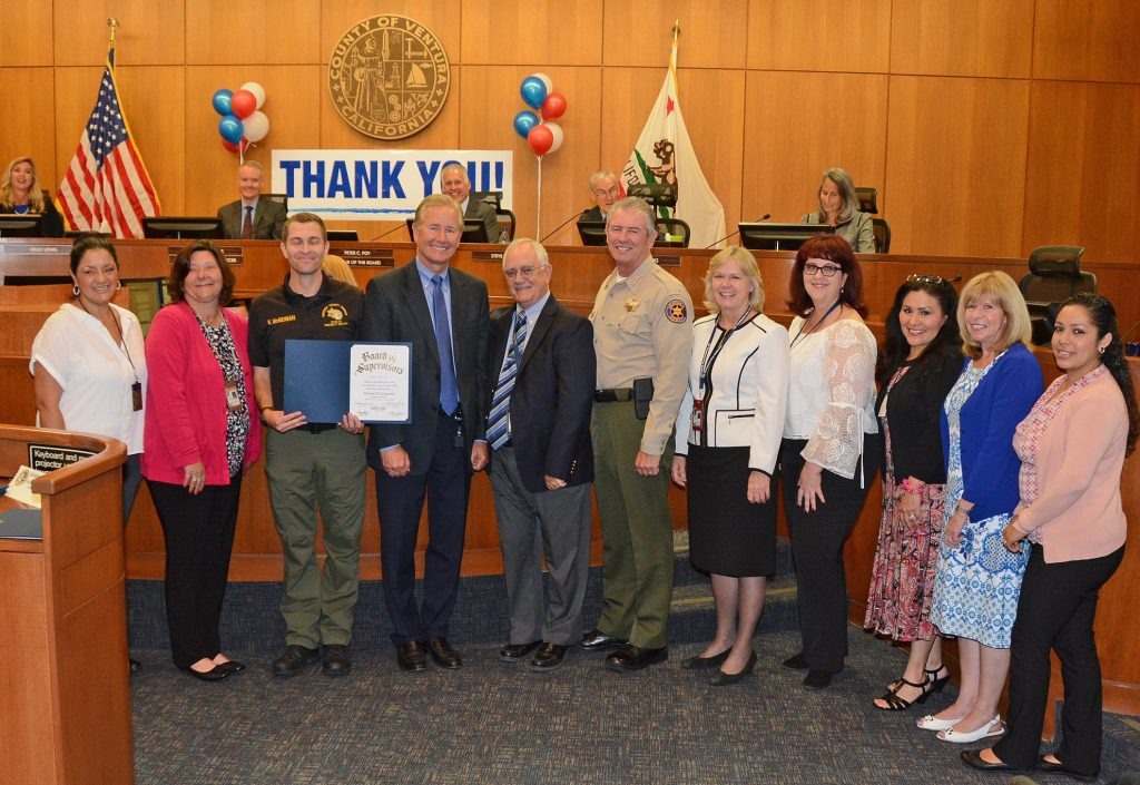 BOARD OF SUPERVISORS - THOMAS FIRE RECOGNITION OF STAFF